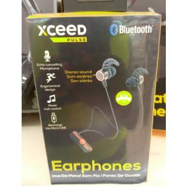 EARPHONE BLEUTOOTH XCEED PULSE BLK/RED - AfriMarket