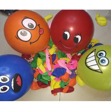 Balloons round smiley pearl 10 pce - AfriMarket