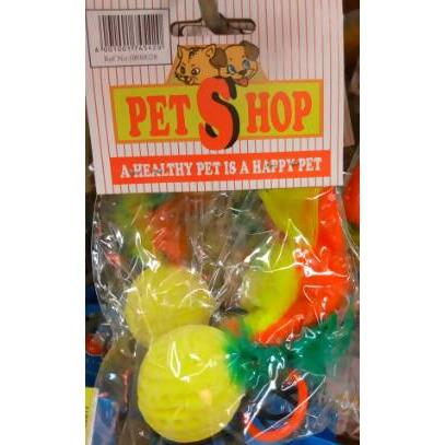 SPONGE BALL W/FEATHER PETSHOP - AfriMarket