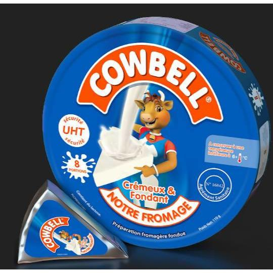 CHEESE WEDGES 8 PORTION COWBELL 110G - AfriMarket