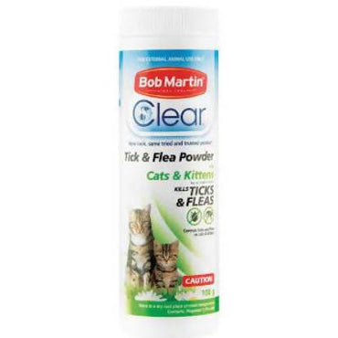 CAT POWDER TICK AND FLEA BOB MARTIN 100G - AfriMarket