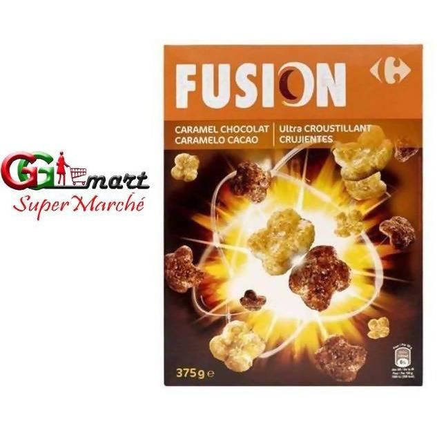 CARREFOUR CEREAL FUSION CARAMEL CHOCO 375G - AfriMarket