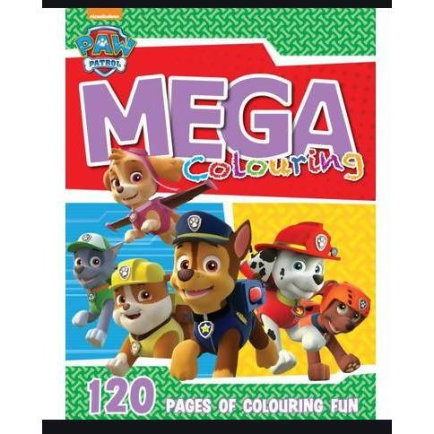 COLOUR ACTIVITY BOOK POW PATROL 120 PG MEGA - AfriMarket