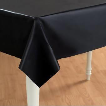 Table Cover Party Plastic Black - AfriMarket