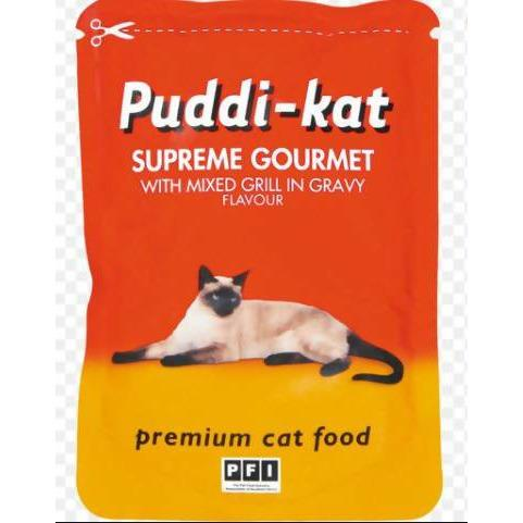 Cat Food mixed grill flavour in gravy puddi-kat 85g - AfriMarket