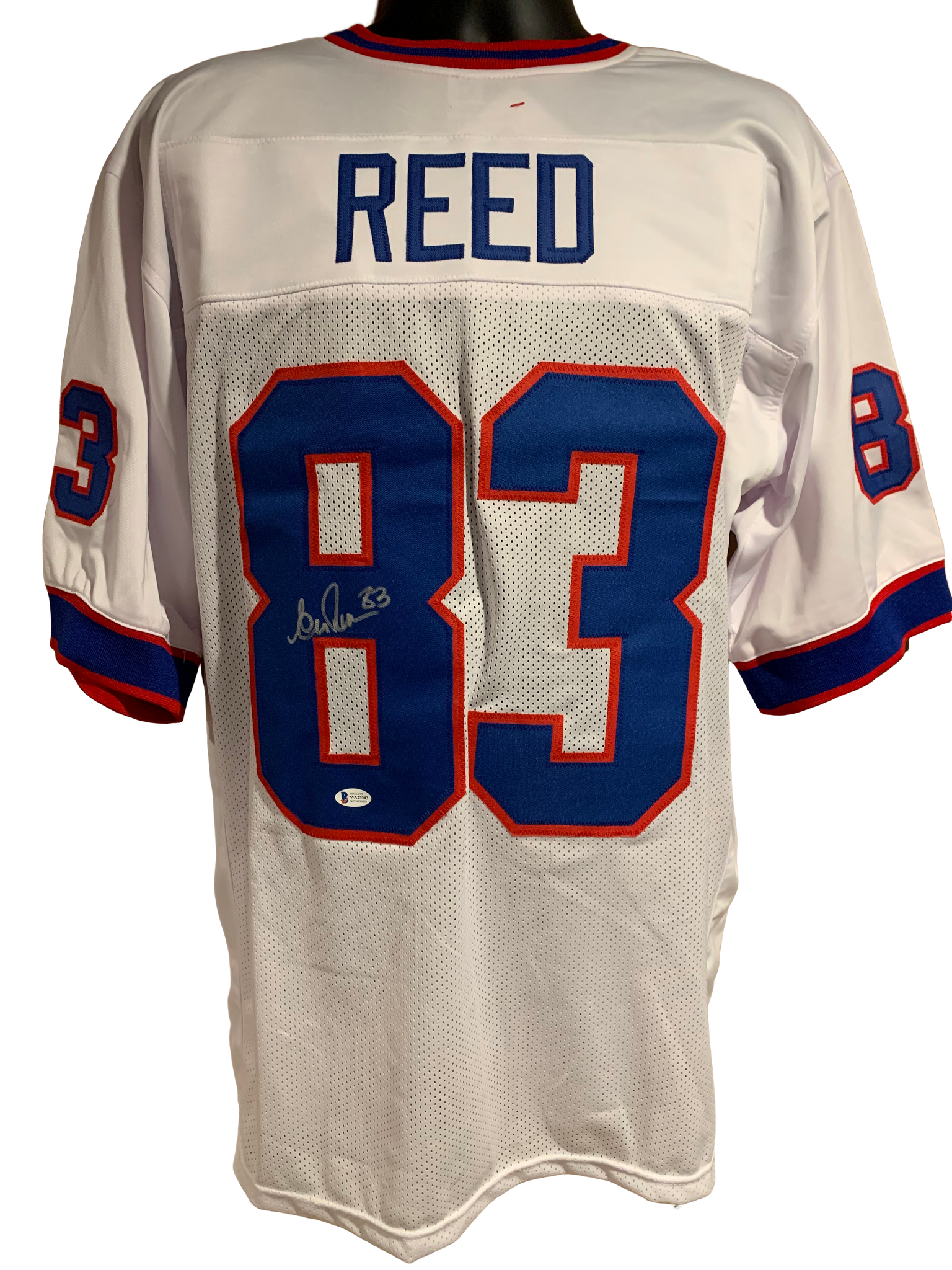 Andre Reed Authentic Autographed Buffalo Bills Custom White Jersey - Beckett COA