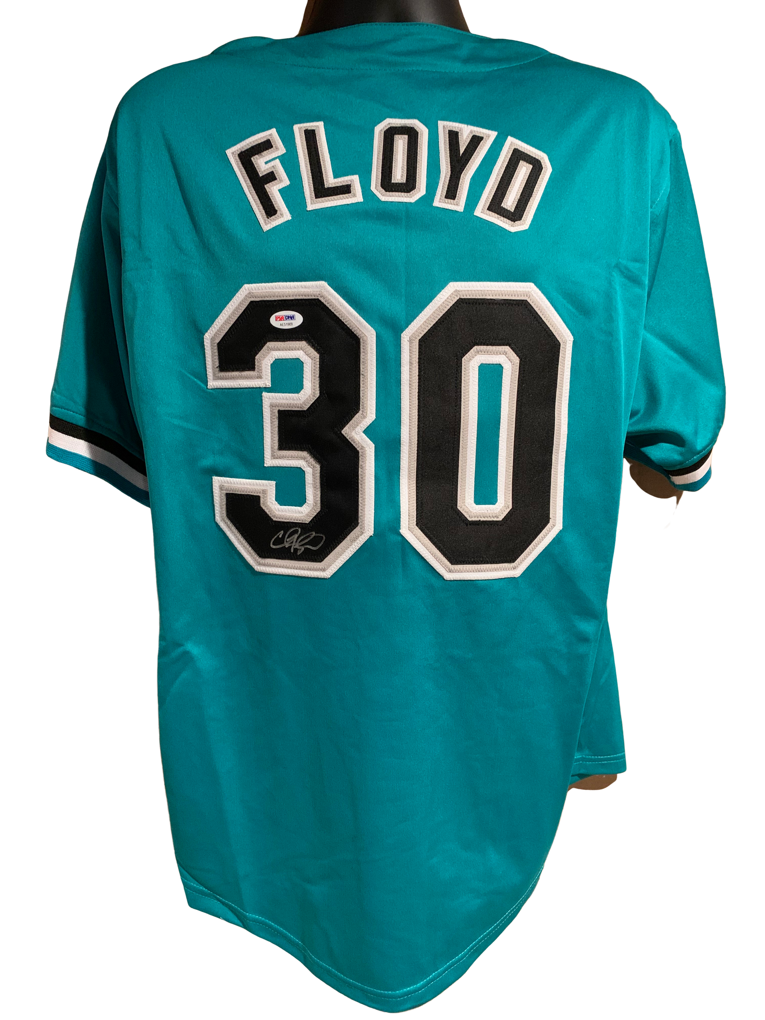 Cliff Floyd Authentic Autographed Miami Marlins Custom Jersey - JSA COA