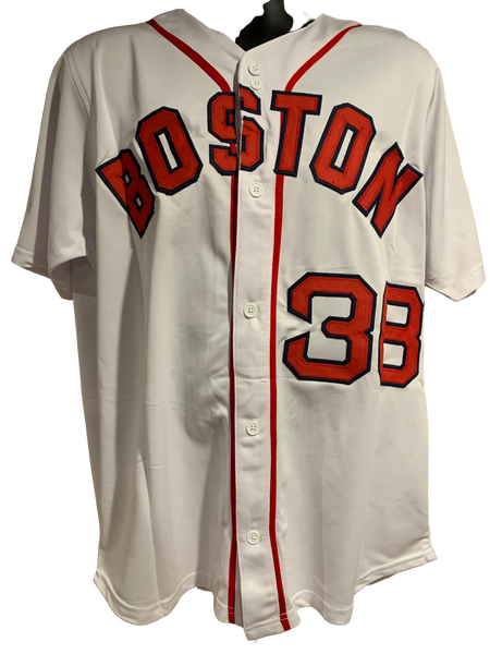 Curt Schilling Authentic Autographed White Boston Red Sox Custom Jersey - JSA COA