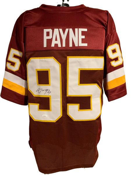 Daron Payne Authentic Autographed Washington Redskins Custom Jersey - JSA COA