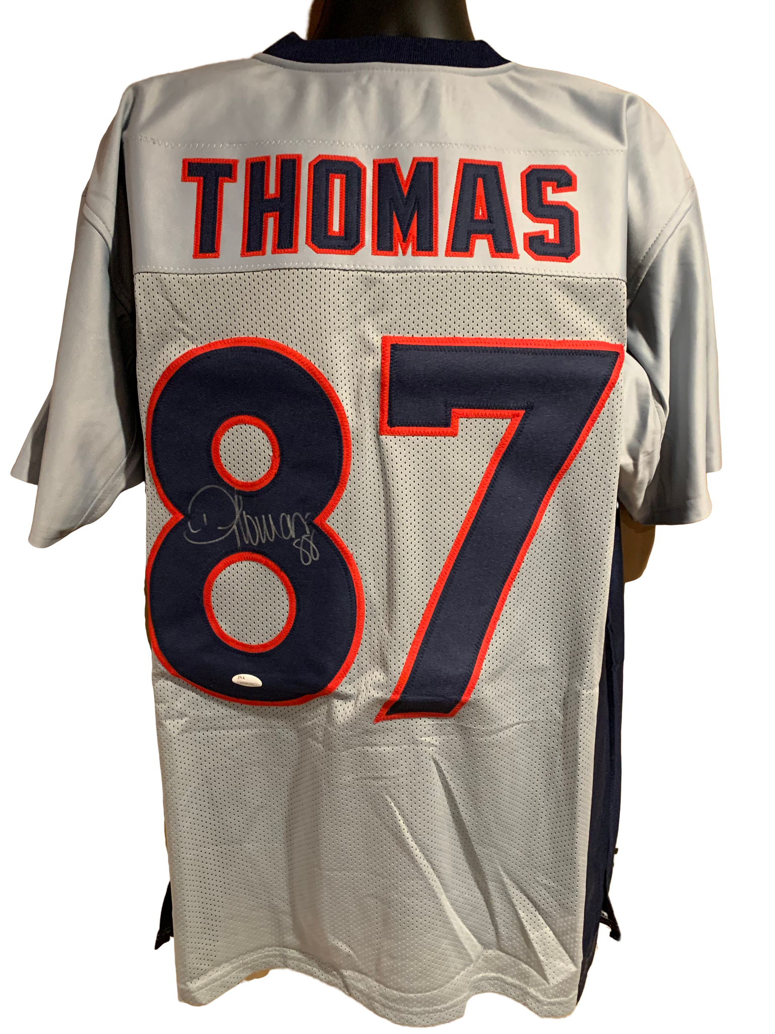 Demaryius Thomas Authentic Autographed New England Patriots Custom Color Rush Jersey - JSA COA