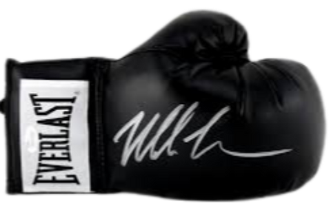 Mike Tyson Authentic Autographed Black Boxing Glove - Tyson Hologram