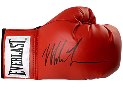 Mike Tyson Authentic Autographed Red Boxing Glove - Tyson Hologram