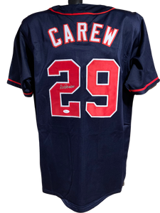 Rod Carew Authentic Autographed Minnesota Twins Custom Jersey - JSA COA