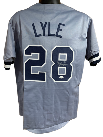 Sparky Lyle Authentic Autographed New York Yankees Custom Jersey - JSA COA
