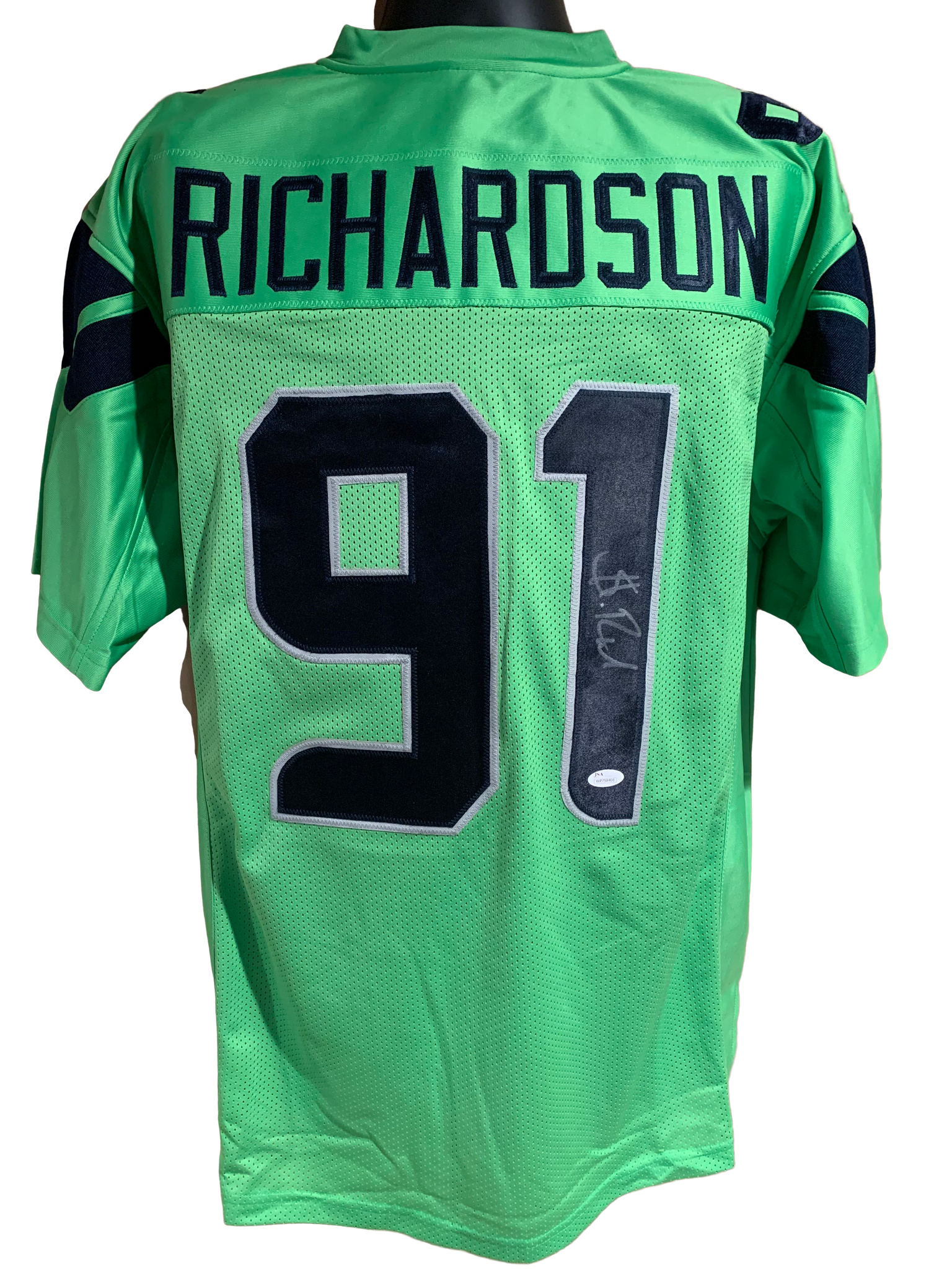 Sheldon Richardson Authentic Autographed Seattle Seahawks Custom Jersey - Beckett COA