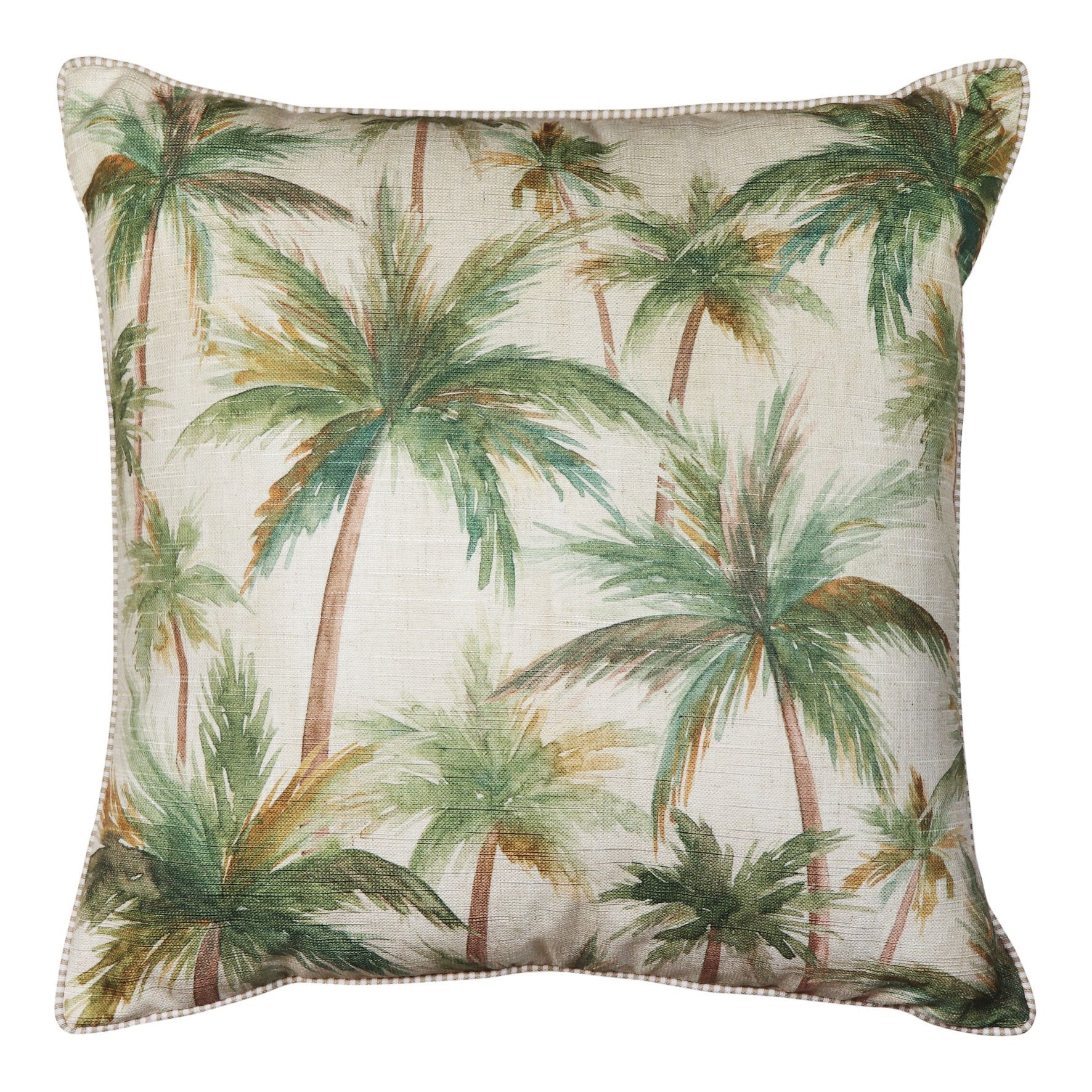 Palms neutral square cushion