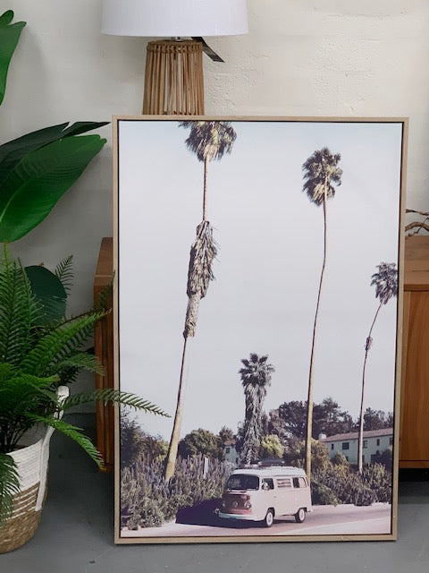 Combi in Cali framed canvas art