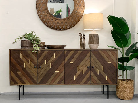 Cannes parquetry sideboard