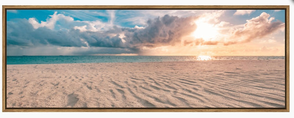 Beach Contrast framed canvas print