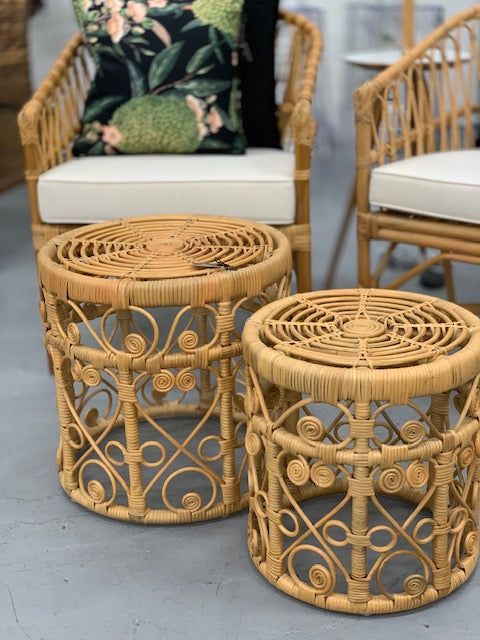 Peacock side tables set 2