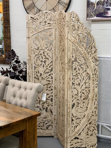 Carved Indian divider screen