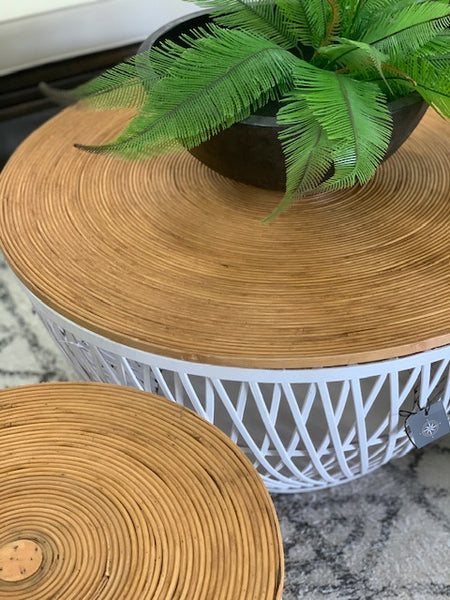 Camp set 2 rattan coffee tables