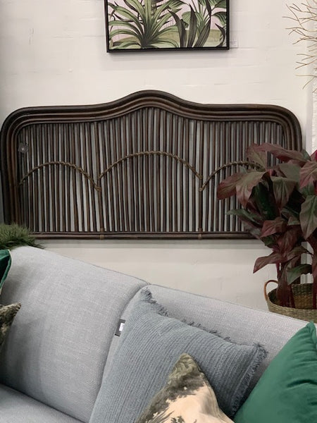 Naomi cane headboard - walnut finish