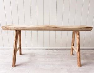Honi timber bench seat- 2 finishes