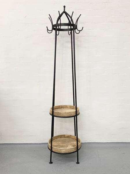 Iron Coat Stand with Shelving