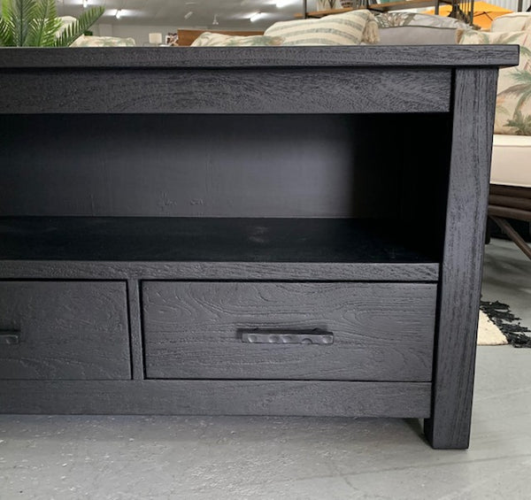 Villa TV unit 4 drawer - Black