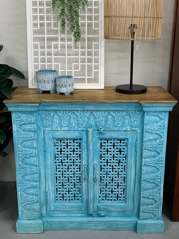 Indian 2 Door Carved Sideboard