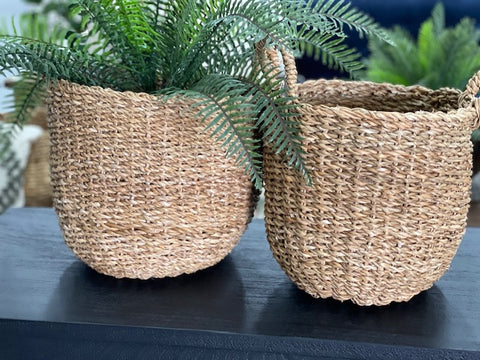 Seagrass tub baskets- 2 sizes