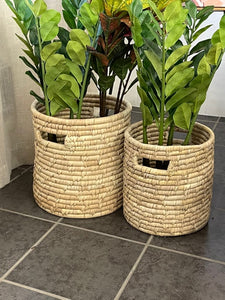 Date leaf woven tub - 2 sizes