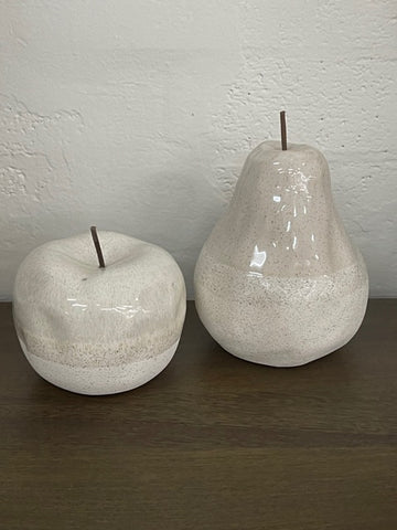 Airlie pear & apple ornaments