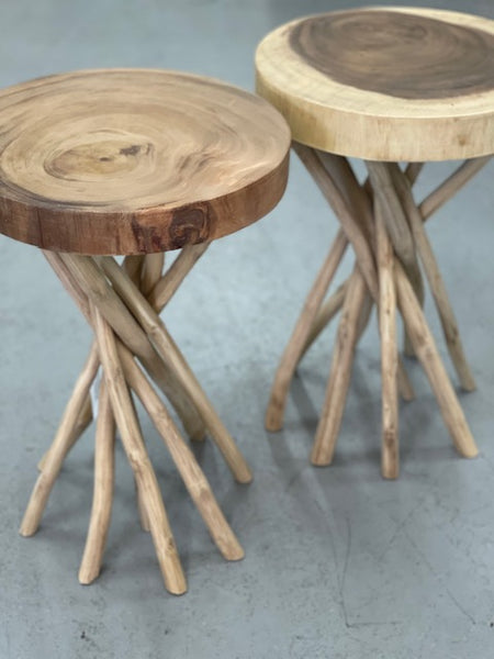 Flinders teak side table - natural