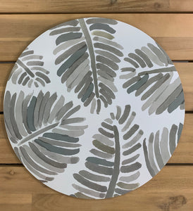 Tropical palm placemat set 4