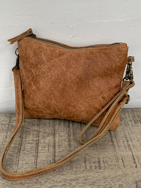 Leather clutch/sling bag