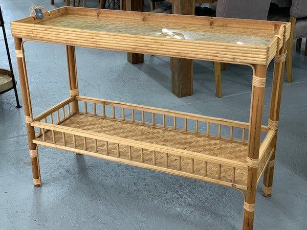 Hamptons Bamboo console table