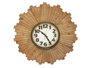 Sunray wooden clock
