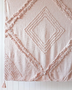 Burleigh blush throw rug