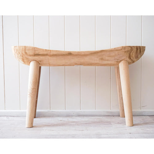 Single natural timber bench seat