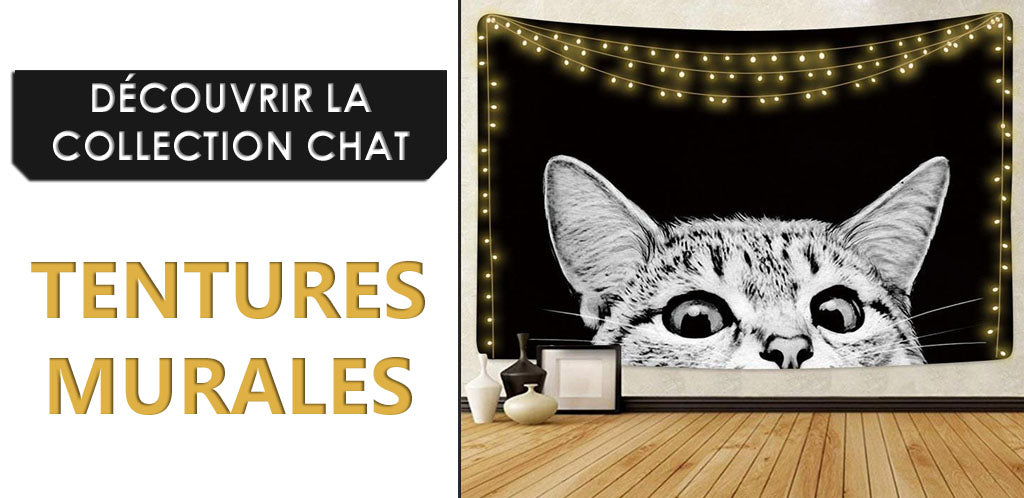 Collection Tentures Murales Chats