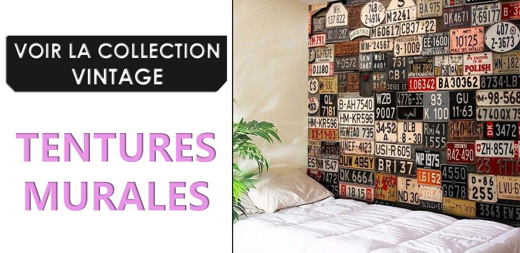 Collection de tentures murales vintages