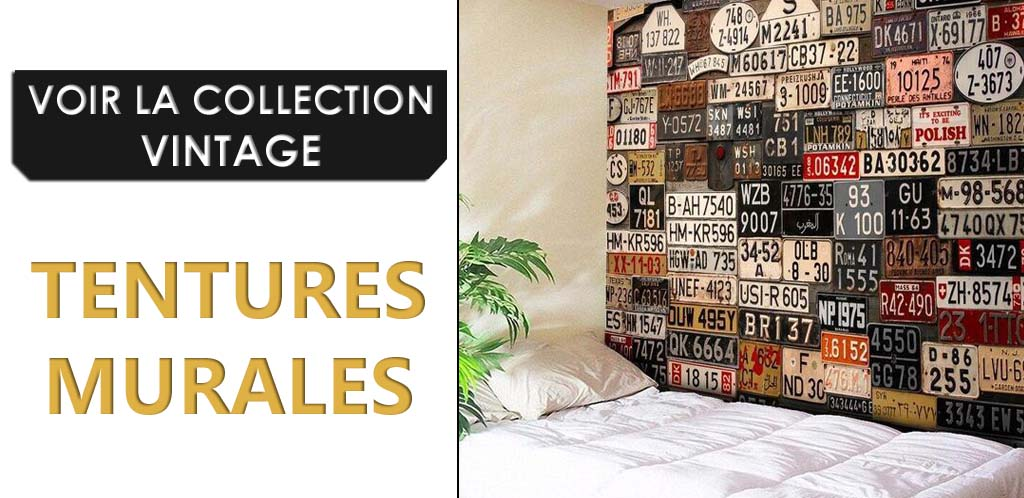 Collection tentures murales vintages