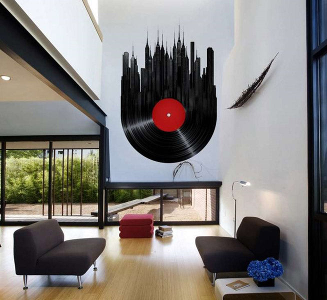 Gigantesque vinyle de décoration murale décorative