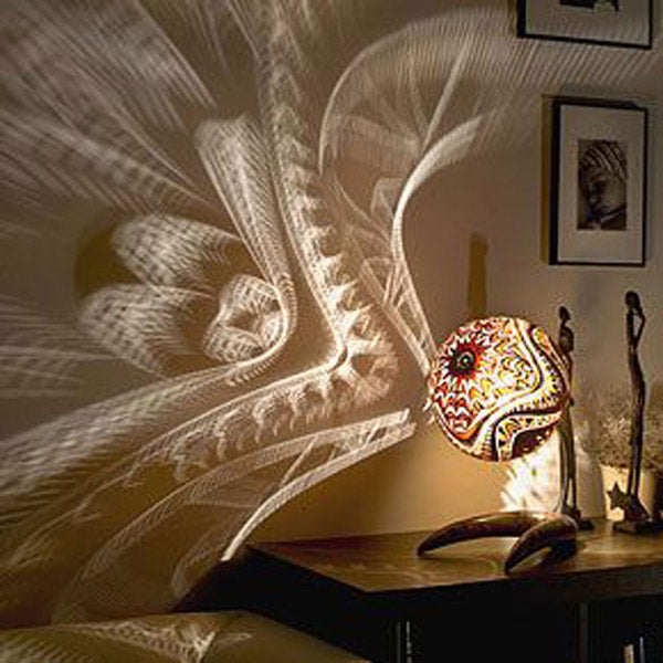 Lampe courge Africaine