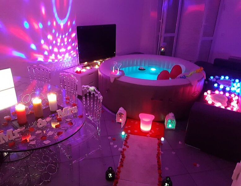 Spa ambiance violet