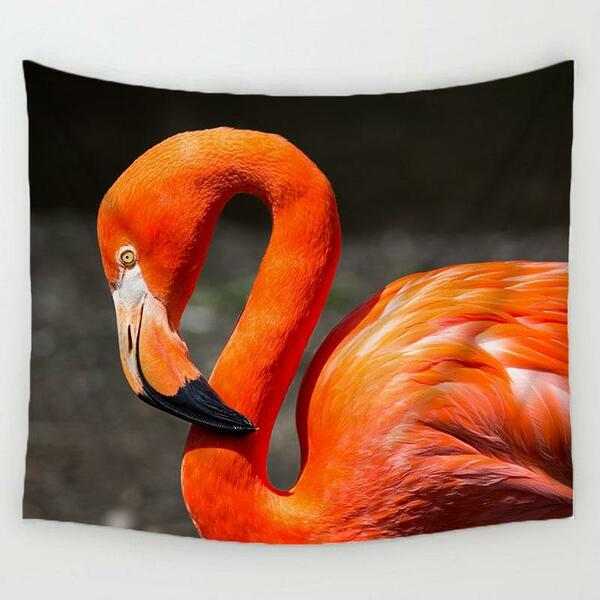 Tenture flamant rose