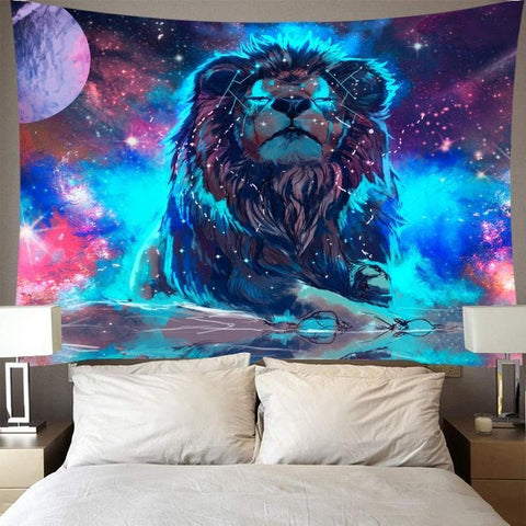 Tenture Lion Galaxie