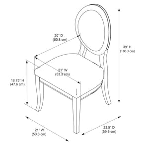 SET OF 2 Powell Lenoir Dining Side Chair #5534